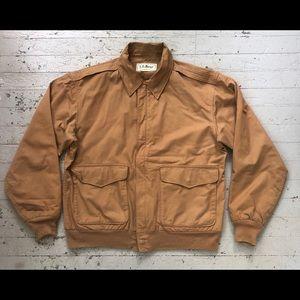 Vintage 80s Khaki LL Bean A1 Flight Jacket Mens M